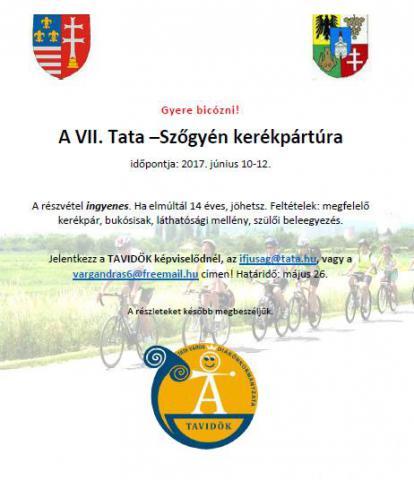 Ismét Tata-Szőgyén kerékpártúra!