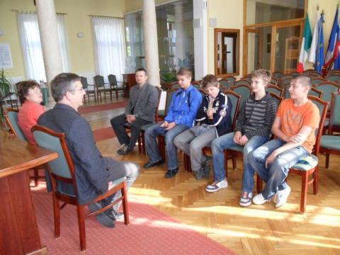 Michl József polgármester is fogadta a fiúkat