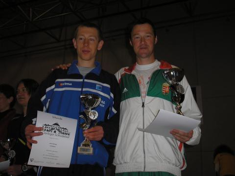 Kovács András és az ezüstérmes Ulrich Königs a dobogón